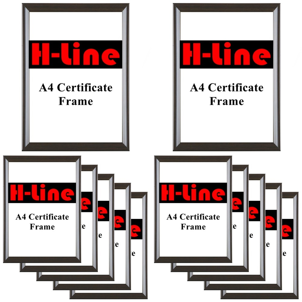 Hanging Hook A4 Certificate Photo Picture Frame Silver Glass Front With Stand